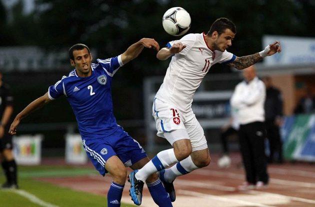 Daniel Pudil (vpravo) v zápase s Izraelem.