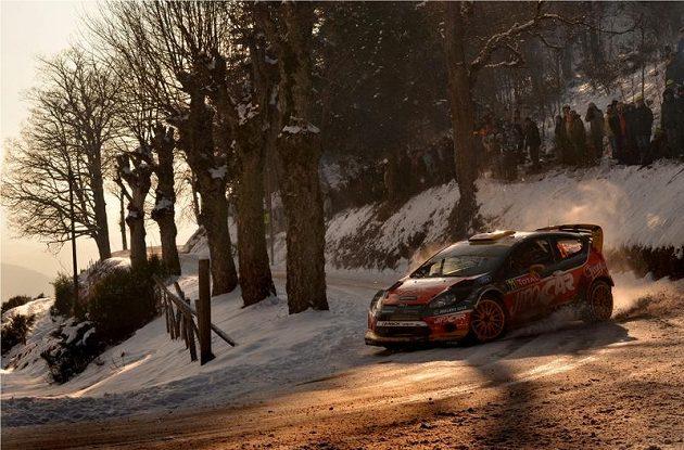 Martin Prokop na trati Rallye Monte Carlo 2013.Jipocar Czech National Team