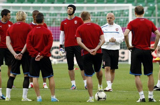 Trénink českých fotbalistů před zápasem s Řeckem