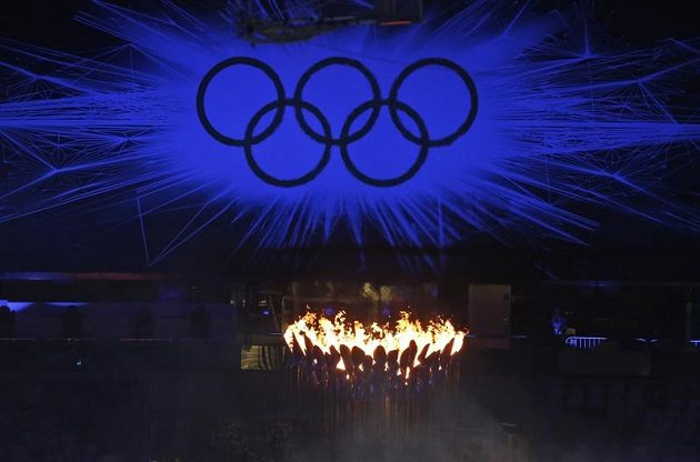 Slavnostní zakončení olympiády v Londýně.