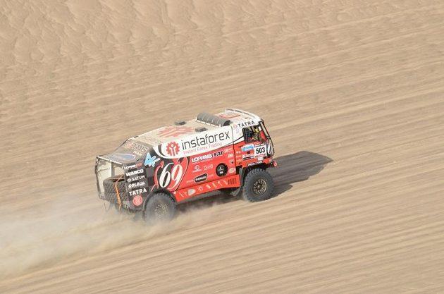 Aleš Loprais s tatrou během Rallye Dakar 2013.