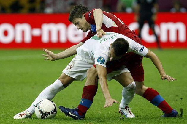 Václav Pilař v souboji s Portugalcem Joaem Pereirou