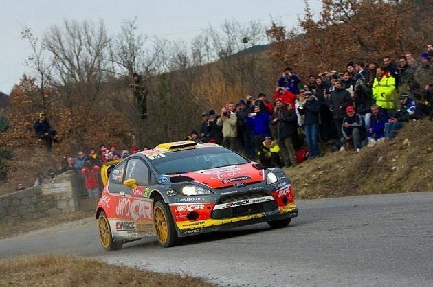 Martin Prokop na trati Rallye Monte Carlo 2013.