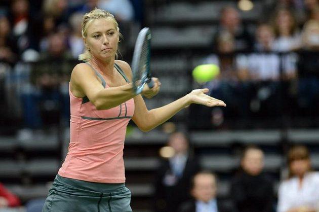 Ruská tenisová star Maria Šarapovová na exhibici v Praze