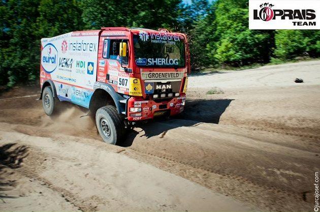 Aleš Loprais absolvuje letošní Silk Way Rally s kamiónem MAN TGS 18.480 nizozemského týmu.