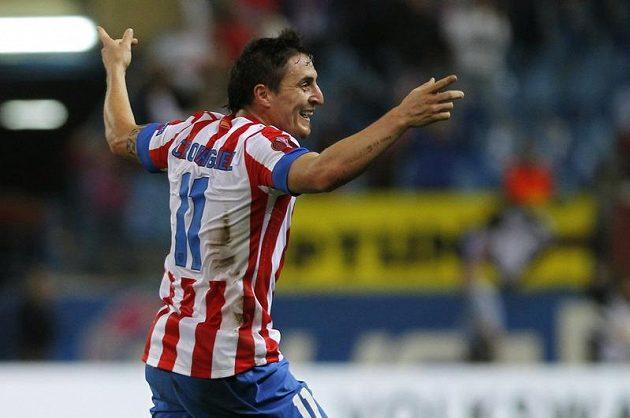 Cristian Rodríguez se raduje z gólu proti Plzni.