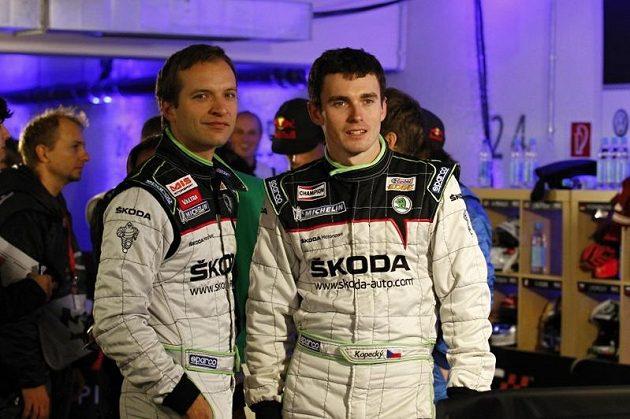 Juho Hänninen a Jan Kopecký (vpravo) během Race of Champions 2011.