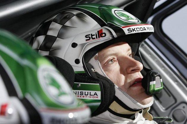 Finský pilot Škody Motorsport Juho Hänninen.