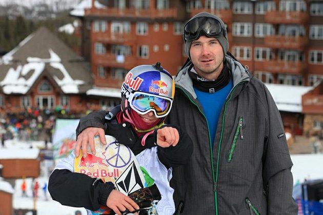 Šárka Pančochová s trenérem Jožinem Toufarem