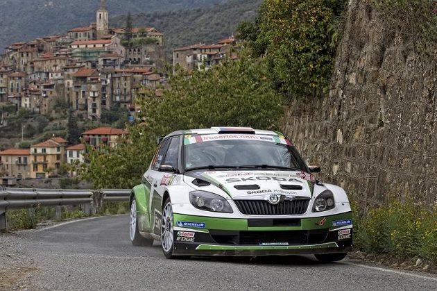 Jan Kopecký na trati Rallye San Remo.