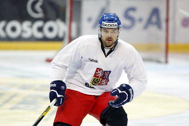 Zdeněk Kutlák na tréninku národního týmu