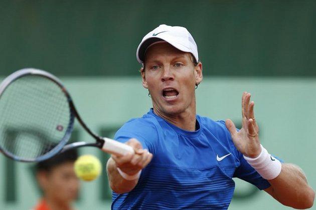 Tomáš Berdych v duelu 3. kola Roland Garros v Paříži proti Kevinu Andersonovi