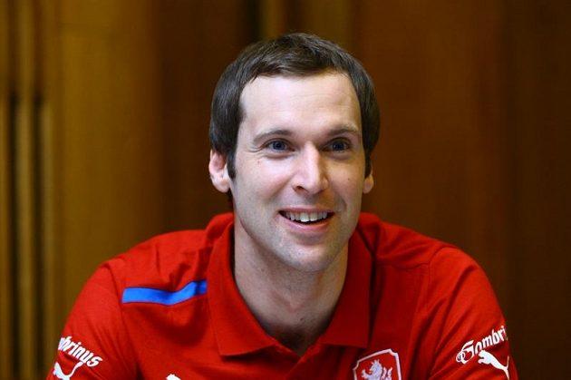Petr Čech na srazu fotbalové reprezentace