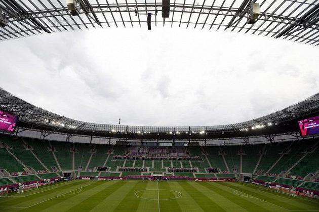 Vratislavský stadión, kde čeští fotbalisté odehrají všechny své zápasy ve skupině evropského šampionátu.