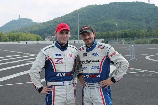 Michal Matějovský (vlevo) a David Vršecký, velcí kamarádi a v září při závodě EP v Mostě také velcí soupeři.