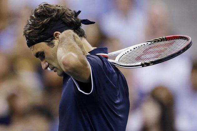 Zklamaný Roger Federer. Na šestý titul z US Open letos nedosáhne
