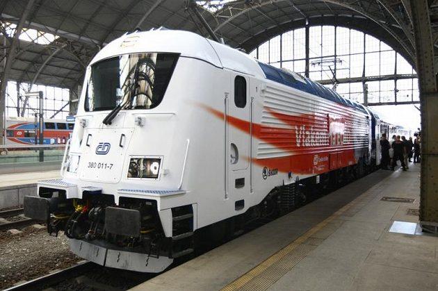Lokomotiva speciálního vlaku Josef Masopust.