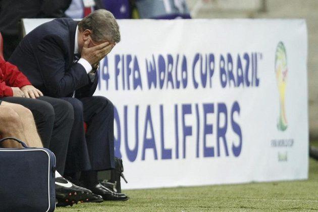 Zklamaný anglický kouč Roy Hodgson