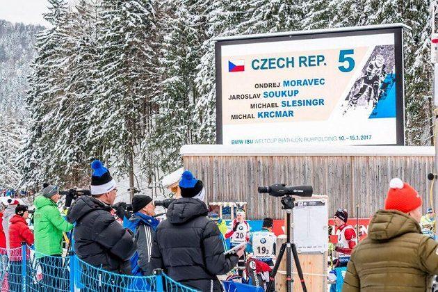 Česká štafeta vyrovnala v Ruhpoldingu umístění z prosincového závodu v Pokljuce.