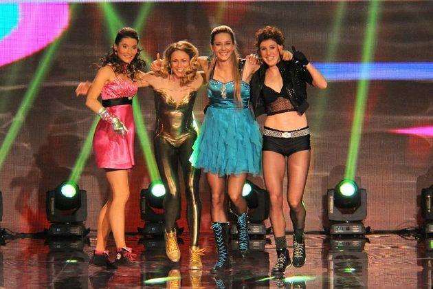 Spice Girls v českém provedení, zleva Jitka Bartoničková, Zuzana Bergrová, Denisa Rosolová a Zuzana Hejnová.