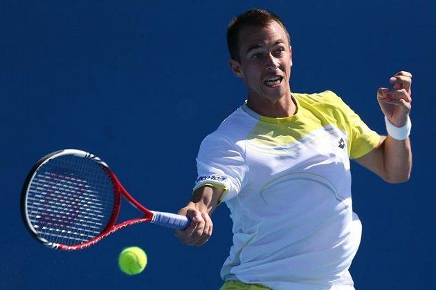 Katem českých tenistů byl vedle Djokoviče také Milos Raonic. Kanaďan černohorského původu vyřadil po Janu Hájkovi i Lukáše Rosola (na snímku).