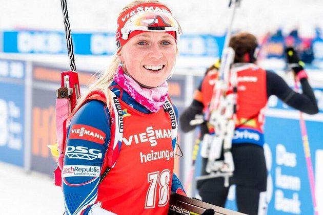 Eva Puskarčíková skončila ve sprintu v Pokljuce těsně osmá.