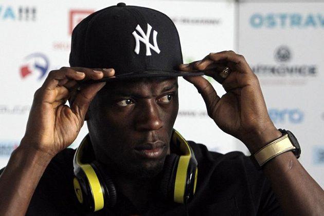 Fenomenální jamajský sprinter Usain Bolt na tiskové konferenci v Ostravě