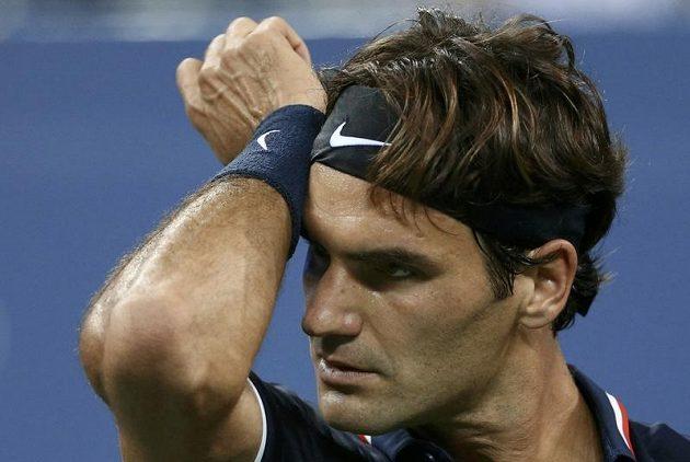 Rozčarovaný Roger Federer