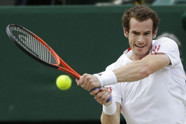 Brit Andy Murray ve finále Wimbledonu