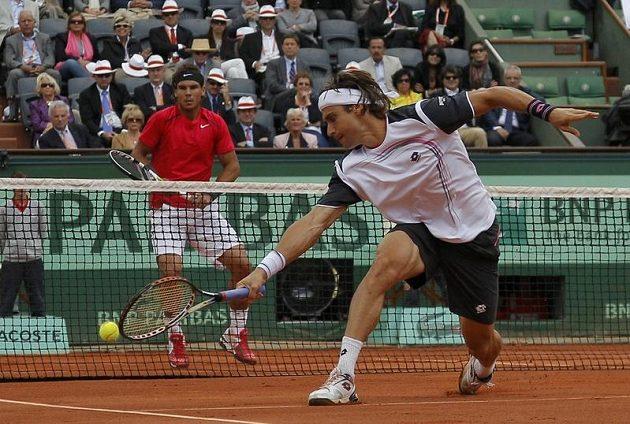 Ze semifinálového duelu Rafael Nadal - David Ferrer