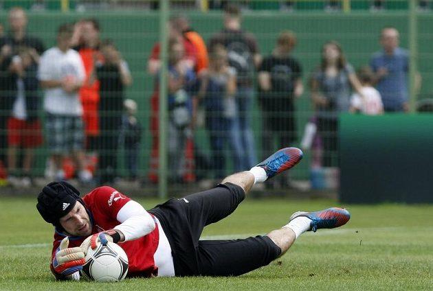 Petr Čech na tréninku české reprezentace