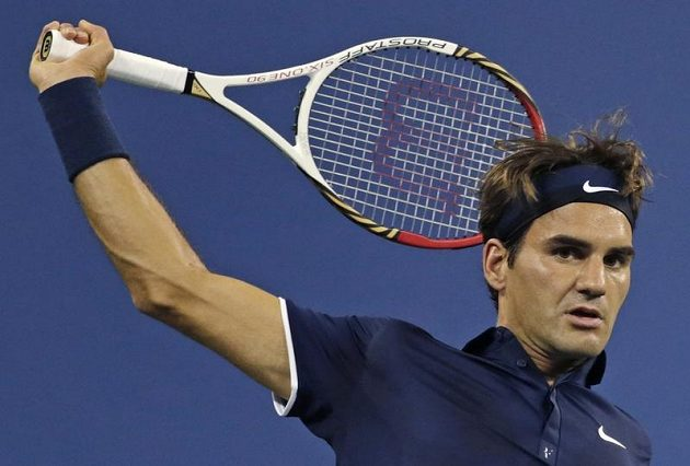 Roger Federer ve čtvrtfinále US Open