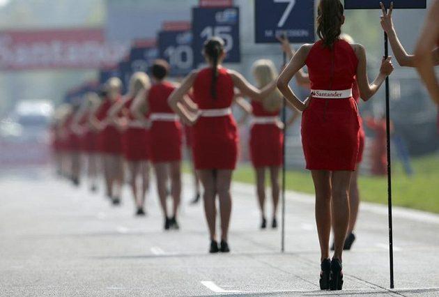 Hostesky na trati Velké ceny Itálie formule jedna.