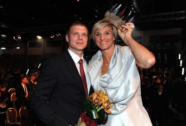 Barbora Špotáková, vítězska ankety Sportovec roku 2012, a její přítel Lukáš Novotný.