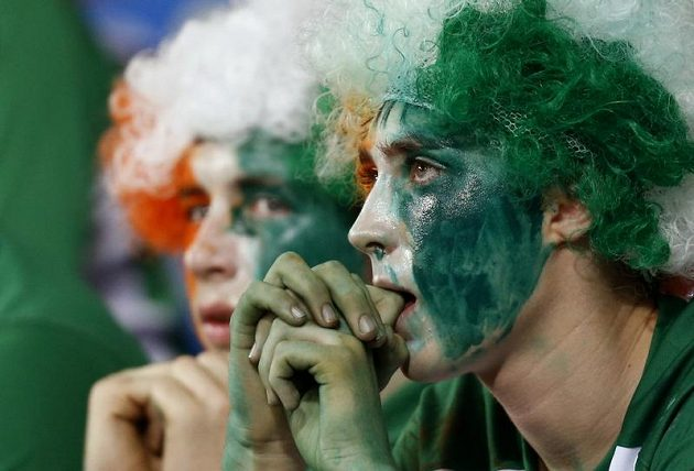 Irští fanoušci byli výborní, jejich tým byl ale první, který vypadl.