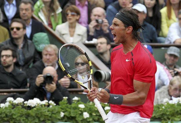 Rafael Nadal ve finálovém souboji na French Open