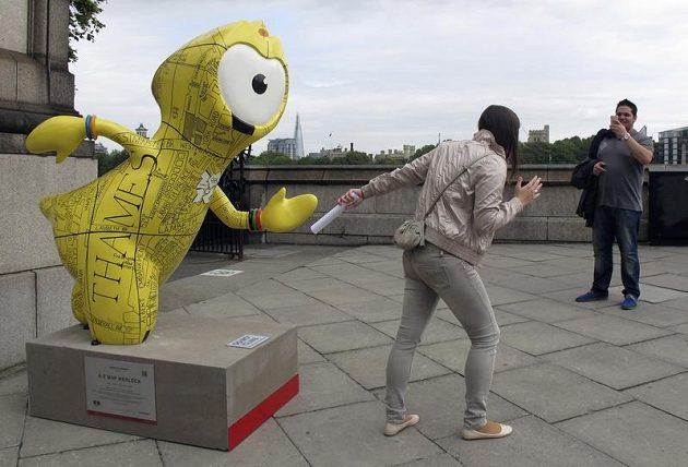 Maskot olympijských her v Londýně Wenlock
