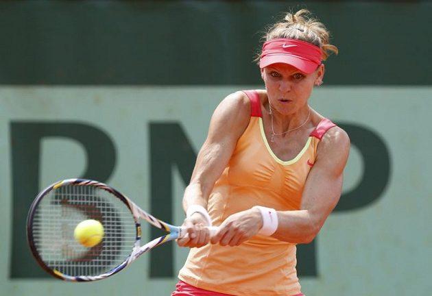 Lucie Šafářová na tenisovém mistrovství Francie.