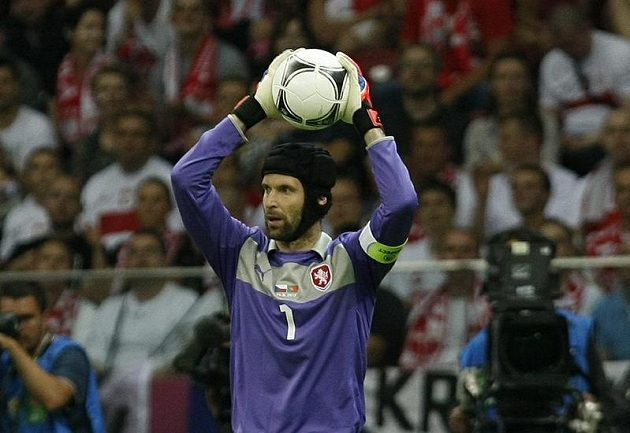 Petr Čech v zápase proti Portugalsku