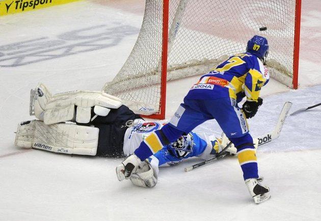 Gól Ondřeje Veselého, který znamenal těsné vítězství 1:0 nad Plzní.