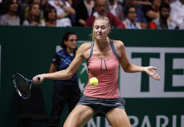 Ruska Maria Šarapovová během finále Turnaje mistryň.