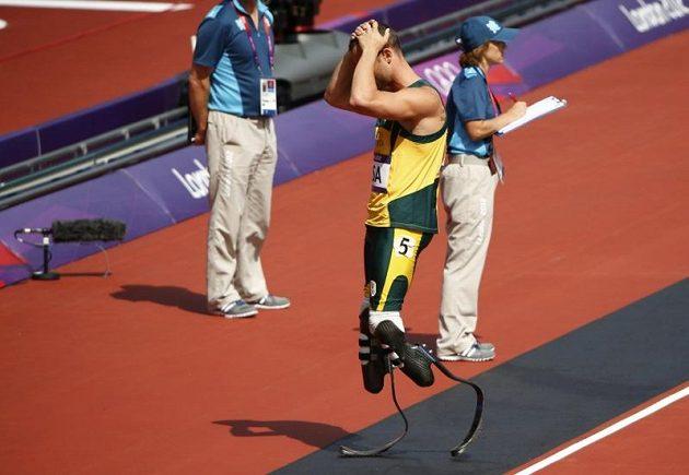 Zklamaný běžec Oscar Pistorius