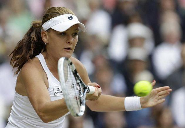 Agnieszka Radwaňská ve finále dvouhry Wimbledonu