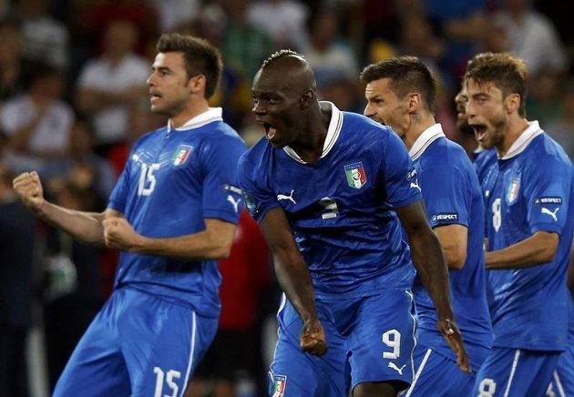 Italská radost po výhře nad Anglií v penaltovém rozstřelu