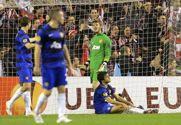 Zklamaní fotbalisté Manchesteru United