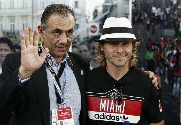 Pavel Nedvěd a Carlo Capalbo, předseda organizačního výboru Volkswagen Maratónu Praha.