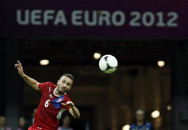 Tomáš Sivok ve čtvrtfinále Euro 2012 proti Portugalsku