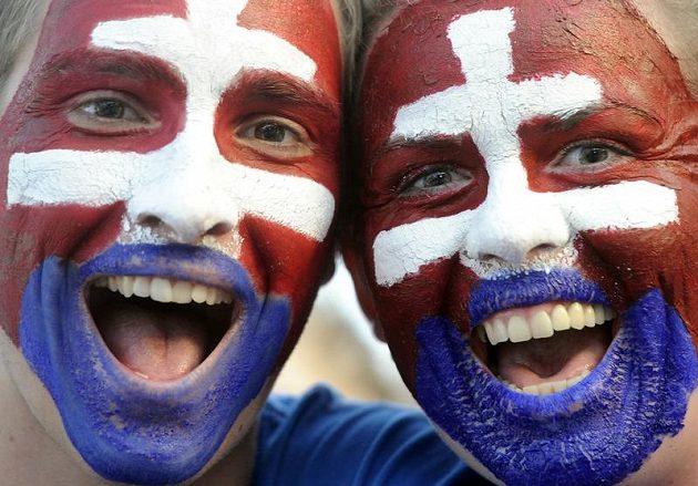 Slovenští fanoušci se na finále patřičně vybavili