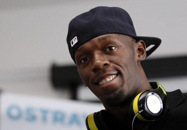 Jamajský sprinter Usain Bolt v Ostravě