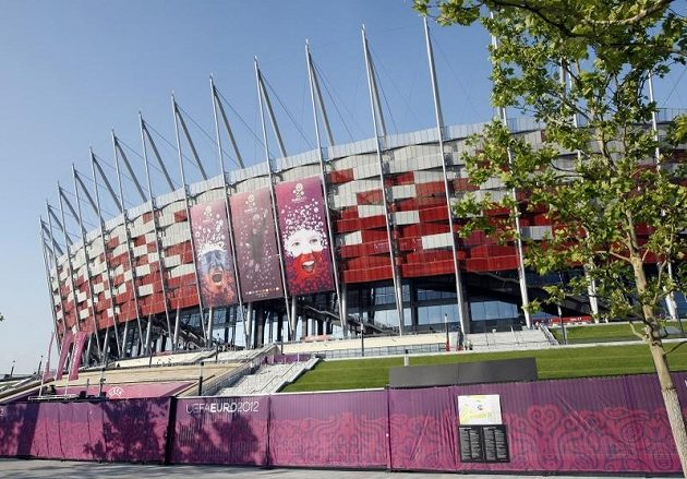 Stadión ve Varšavě, kde se 21. června 2012 odehraje zápas Česko - Portugalsko